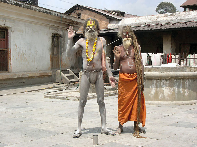 Indische yogis in kathmandu